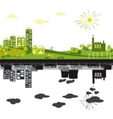 14560341-green-and-polluted-cities